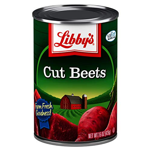 Libby's Cut Beets | Deliciously Earthy Flavor | Deep Vibrant Ruby Red-Purple | Grown & Made in the USA | Farm Fresh Goodness in Every Bite! | 15.0 oz. can (Pack of 12)