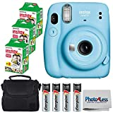 Fujifilm Instax Mini 11 Instant Camera - Sky Blue (16654762) + 3x Packs Fujifilm Instax Mini Twin...