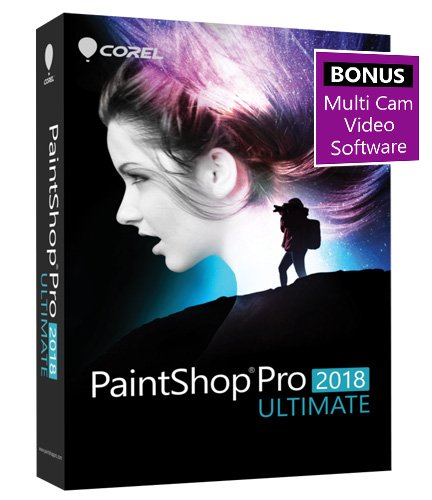 Corel PaintShop Pro 2018 Ultimate Photo with Multi-cam Video Editing Software for PC - Amazon Exclusive (Old Version)