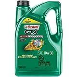 Castrol 03110 GTX High Mileage 10W-30 Motor Oil - 5 Quart