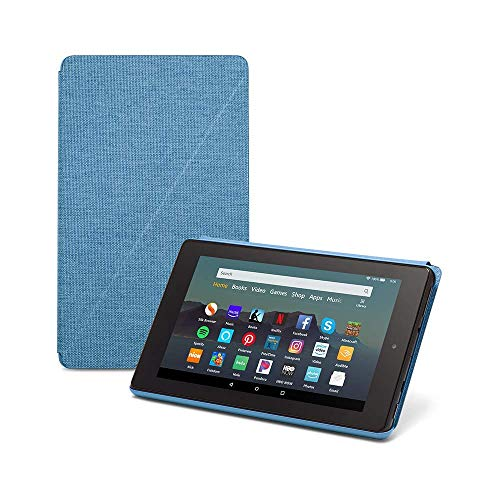 Fire 7 Tablet (7' display, 32 GB) - Blue + Amazon Standing Case (Twilight Blue)