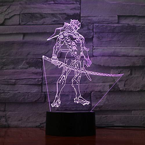 Lampada 3D Camera da letto per bambini OW Gorilla Eroe WINSTON Figura Lampada da notte Regalo Studio...