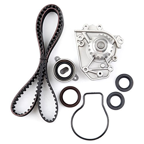 Timing Belt Kit including timing Belt water pump with gasket tensioner bearing etc,OCPTY Compatible for 1996 1997 1998 1999 2000 2001 Acura Integra/1997 1998 1999 2000 2001 Honda CR-V