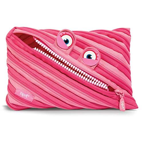 Zipit, astuccio ZTMJ-WD-HIP Wildlings Jumbo, unica cerniera a zip, colore rosa