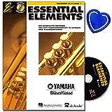 Essential Elements bande 1avec CD pour Trompette dans b-Cours de la Méthode complète pour la musique dans les Écoles Et Blas orchestres-avec cœur Note colorée Pince
