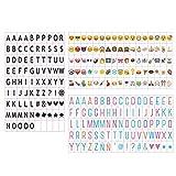 Emsmil Lettres Nombres Symboles et Emojis Signe 85 Noir 85 Coloré Lettres...