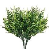 DWANCE 2PCS Plantas Artificiales Planta Falsa de Helecho Artificial Arbusto Verde Decorativas Exterior Interior para Saln, Jardn, Boda, Oficina