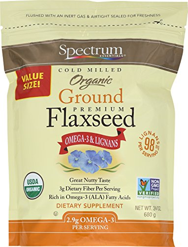 Spectrum Essentials Organic Ground Flaxseed, 24 Ounce (Pack of 1)