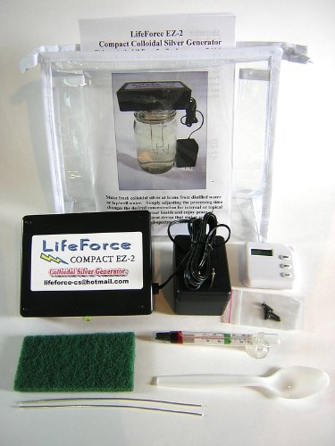 Compact EZ-2 Deluxe Colloidal Silver Generator Package by LifeForce Devices