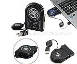 Lingduan Hount Laptop Cooler Vacuum Fan Rapid Cooling,Gaming Mate LED Display Noise Reduction Technology