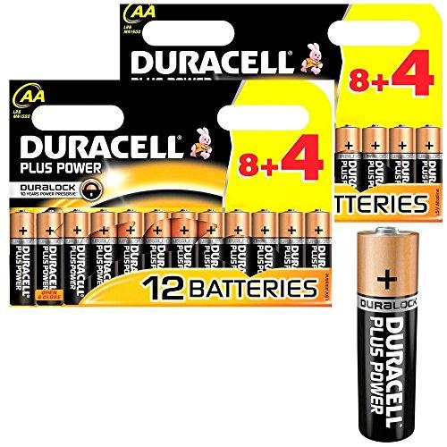 Duracell 24x Plus MN1500AA-Batterien (langanhaltend), 24Stück