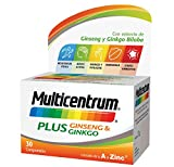 Multicentrum Plus Ginseng & Ginkgo, Complemento Alimenticio Multivitaminas con 13 Vitaminas, 11...