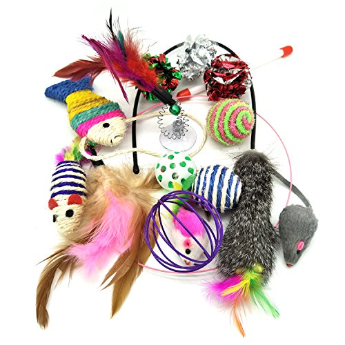 PietyPet Jouets Chat, Jouet pour Chat Animaux Domestiques Toys pour Chat Chaton Minou, 20 pièces