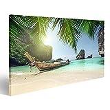 Joli Tableau sur Toile Bateau sur l'île de Phi Phi, Thaïlande Poster, Tableaux,...