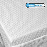RUUF Memory Foam Mattress Topper Twin | 3-Inch High Density Active Cooling Bed Topper | Removable & Washable Hypoallergenic Cover | Medium-Firm