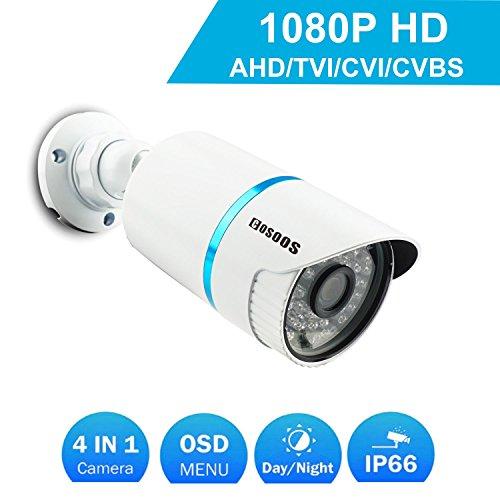 COSOOS Telecamera di Sicurezza Bullet 1080P 1920TVL, Ibrida 2.0 Megapixel 4-in-1