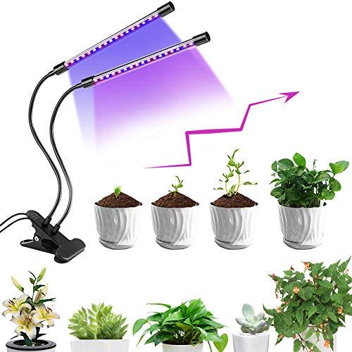 Pflanzenlampe, Led Pflanzenlampe, LED Grow Light, Pflanzenlicht mit Automatische Zeitschaltuhr, Vollspektrum, 5 Stufen Helligkeit, 360°Einstellbar für Zimmerpflanzen Gartenarbeit Gewächshaus