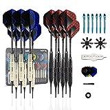 Dardos DartPro - 12 Dardos para diana [18g] - Dardos de punta suave para diana electrónica - Set de...