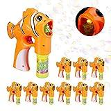Relaxdays 10x Pistolets à Bulles de Savon Poisson Clown LED Machine à Bulles...