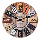 Horloge Murale Bois, 12'' Horloge Murale Geante, Horloge Vintage, Horloge Murale Design Moderne, Grande Horloge Murale, Silencieuse Pendule Murale, Decoration Chambre, Deco Maison, Deco Murale