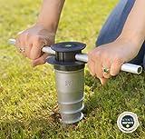 GARD & ROCK - BASE D'ANCRAGE en aluminium, affleurant le sol -...