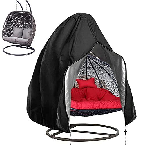 Longziming, copertura per poltrona sospesa, 230 x 220 cm, Oxford 420D, impermeabile, antivento, resistente ai raggi UV, con rivestimento in PVC, cordino nero