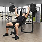 Olympic Weight Benches, Adjustable Weight Benche Set Multifunctional Weight-Lifting Bed Weight-Lifting Machine Fitness Equipment【US in Stock】 (A-Black)