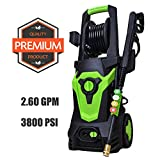 Azoran Pressure Cleaner Machine with 4 Quick-Connect Spray Tips, Electric Power Washer with Hose Reel,20ft High Pressure Hose - 3800 PSI 1800W 2.6 GPM