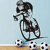 Color de la decoración del muchacho de la decoración del vinilo de la bici de la pared de la bici del deporte
