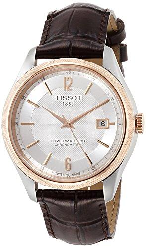 Tissot Herren-Uhren Analog Automatik One Size Leder 87201589