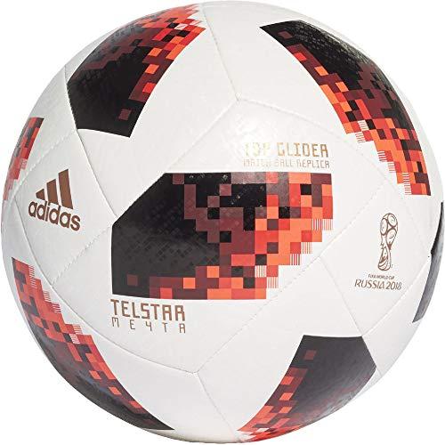 adidas Herren FIFA Fussball-Weltmeisterschaft Knockout Top Glider Ball, White/Solred/Black, 5