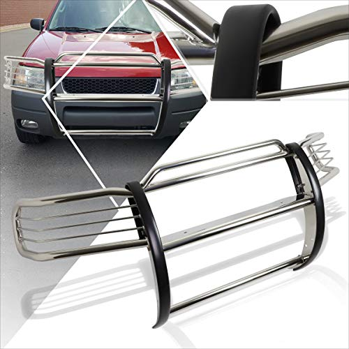 Compatible with Ford Escape CD2 01-04 Stainless Steel Front Bumper Brush Grille Guard Chrome