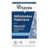 Vitavea Mélatonine Valériane Complément Alimentaire 30 gélules (10.5g)