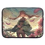 Bolso de la Manga del Ordenador portátil del Cielo de la Flor de la Muchacha 15 ″ Caja del Ordenador Maletín de la Tableta Mensajero portátil Impermeable