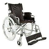 GIMA Royal Chaise roulante/Fauteuil roulant, assise de 46cm, tissu noir