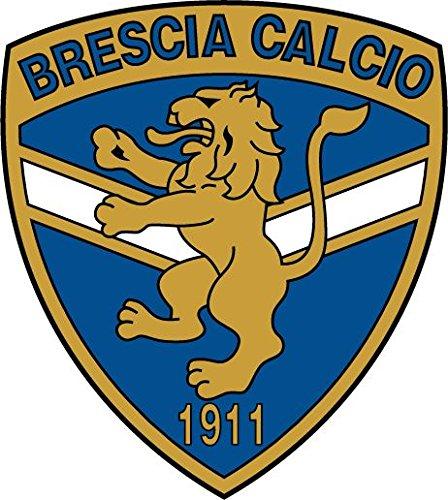 Adesivo per paraurti auto, motivo: Brescia Calcio FC, 12x 12cm
