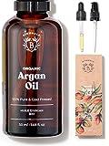 HUILE D'ARGAN BIO 100% Pure, Naturelle & Pressée à Froid | Pipette en verre et...