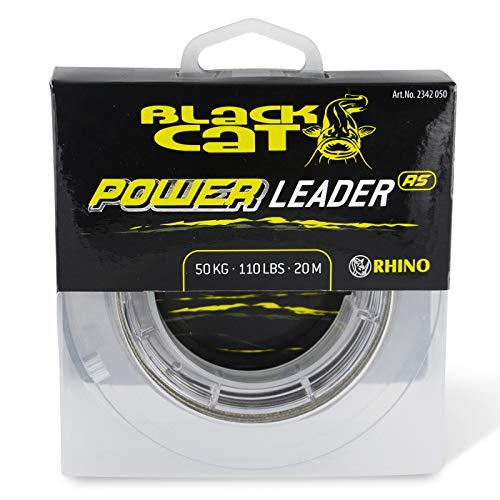 Black Cat 1,20mm Power Leader 20m 100kg, 220lbs, Verde, 1,20 mm
