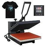 F2C 15' x 15' Black Heat Press Machine Digital Clamshell Transfer...