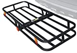 MaxxHaul 70107 Hitch Mount Compact Cargo Carrier - 53' x 19-1/2' - 500 lb. Maximum Capacity for 2' Hitch Receiver