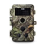 Meidase 2019 Upgraded Trail Camera 16MP 1080P, Game Camera with No Glow Night Vision Up to 65ft, 0.2s Trigger Speed Motion Activated, Loop Recording, Waterproof for Outdoor Wildlife Scouting (Brown)