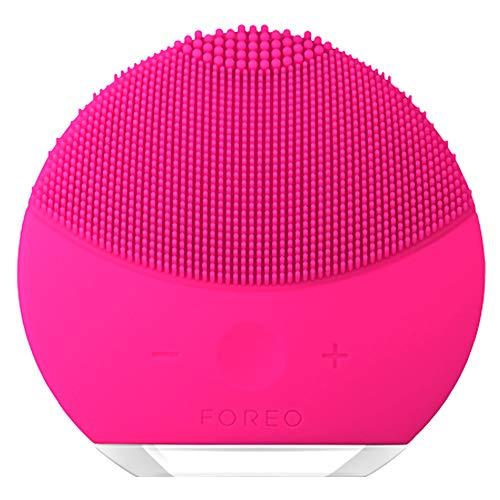 FOREO LUNA mini 2 Cepillo de limpieza facial para un cuidado de la piel digna de un spa en tu casa, Fuchsia