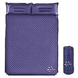 FRUITEAM Camping Sleeping Pad Self-Inflating Camping Pad Foam Sleeping Mat with Pillow Camping Mat...