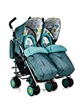 Cosatto Supa Dupa Double/Twin Stroller, Suitable from Birth, Fjord