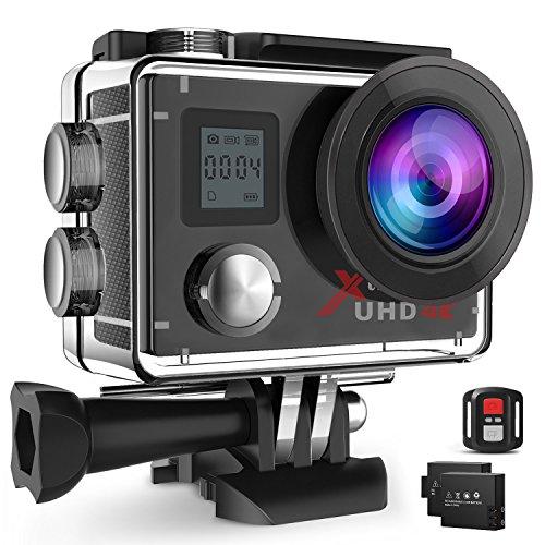 Campark ACT76 Action Cam 4K Wi-Fi 16MP FHD Impermeabile 30M Immersione Sott'Acqua Camera con Schermo...