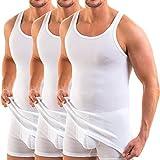 HERMKO 3000 Lot de 3 Débardeur Homme, Couleur:Blanc, Taille:4 (L)