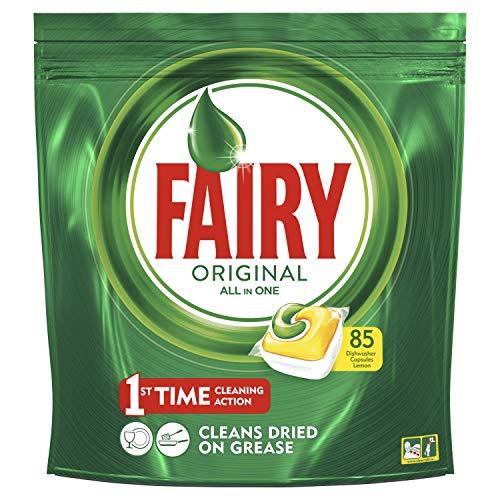 Fairy Original Tutto in Uno 85 Pastiglie per Lavastoviglie, Detersivo in Confezione da 85 Caps,...