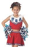 California Costumes Patriotic Cheerleader Child Costume, Medium