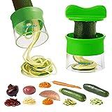Cortador de Verduras Frutas en Espiral Multifuncional WEINAS® Mini Máquina de Cortar Espiral,...
