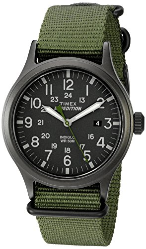 Timex Men's TW4B04700 Expedition Scout 40 Green Nylon Slip-Thru...